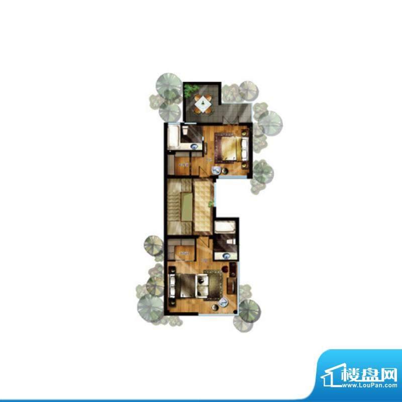 升华璞墅J户型二层3面积:307.00m平米