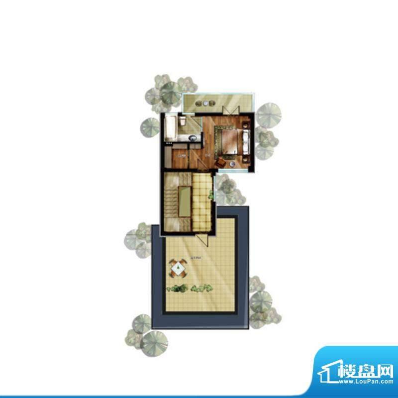 升华璞墅J户型三层3面积:307.00m平米