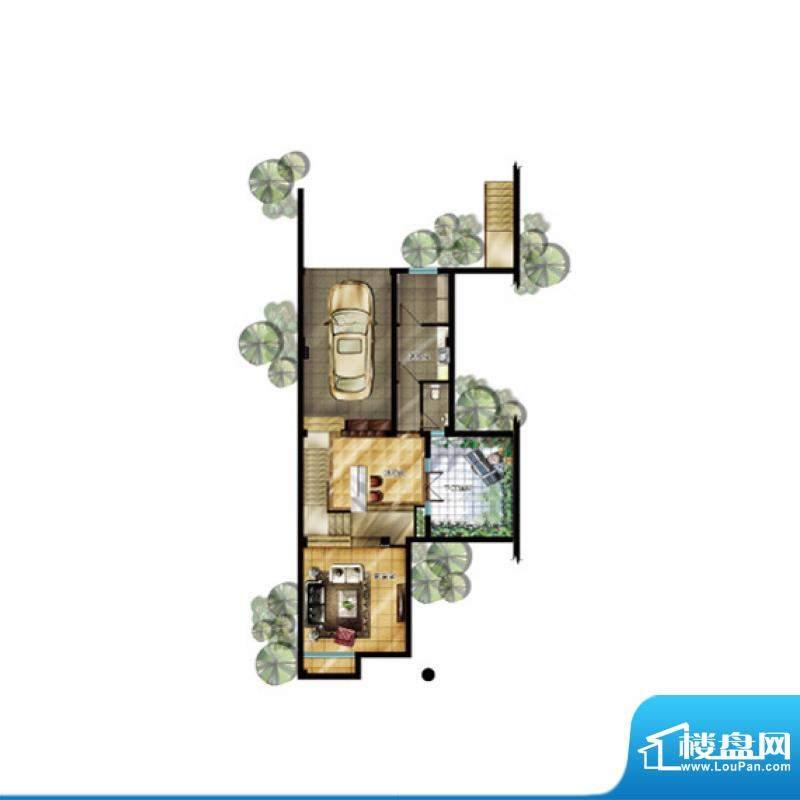 升华璞墅J户型首层3面积:307.00m平米