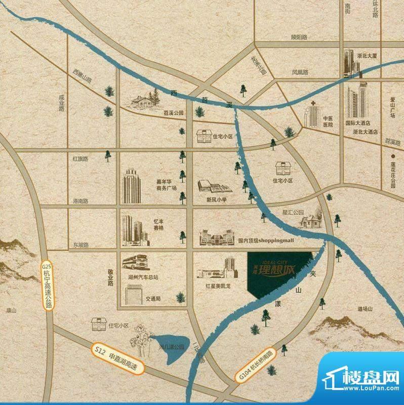 天河理想城交通图
