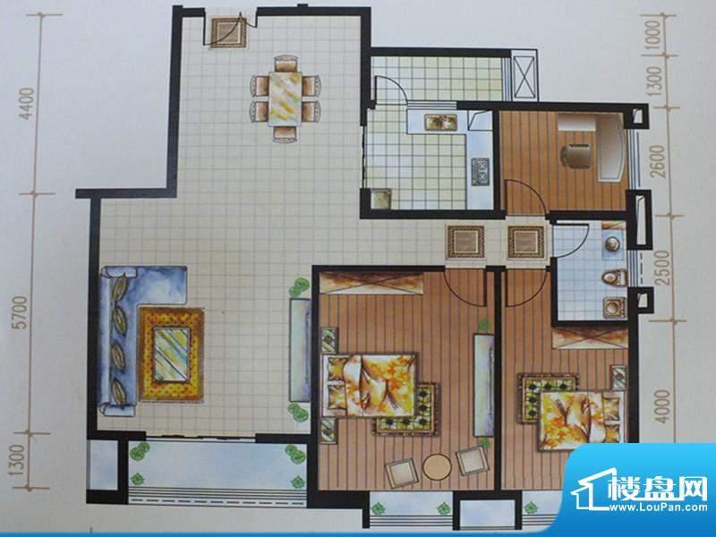馨雅如A-2户型 3室2面积:137.37m平米