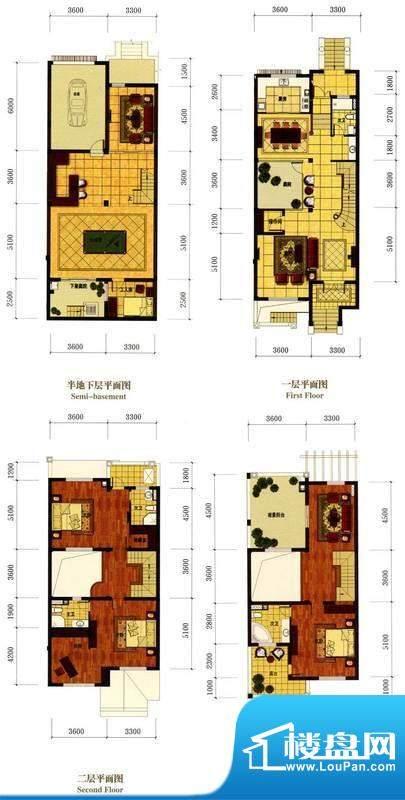 罗马风情城别墅法式面积:373.00m平米