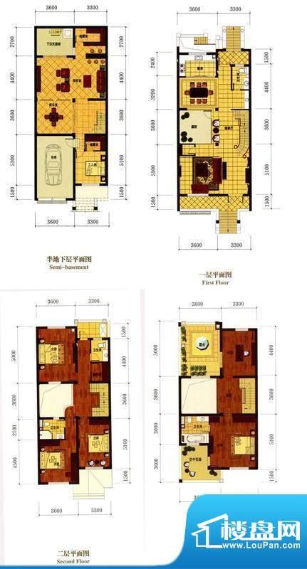 罗马风情城别墅法式面积:383.00m平米