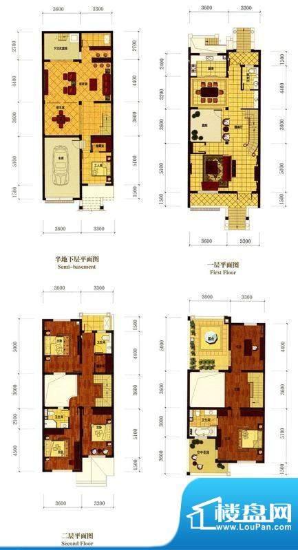 罗马风情城别墅法式面积:370.00m平米