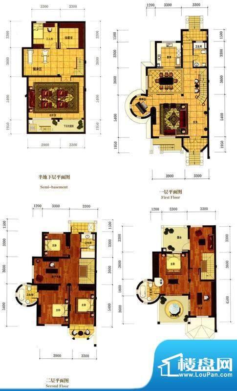罗马风情城别墅意大面积:378.00m平米