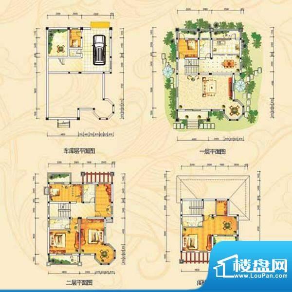 茗仕雅墅d户型 7室2面积:345.84m平米