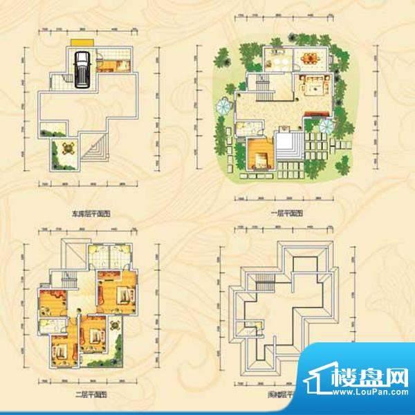茗仕雅墅e户型 5室2面积:413.15m平米