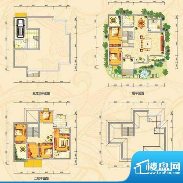 茗仕雅墅g户型 7室2面积:412.09m平米