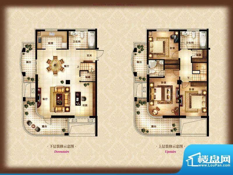 金色水岸A-1b 4室2厅面积:154.00m平米