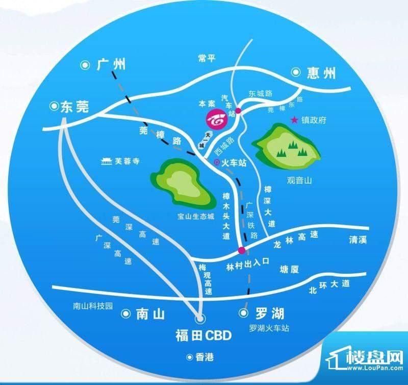 长虹百荟项目项目交通区位图