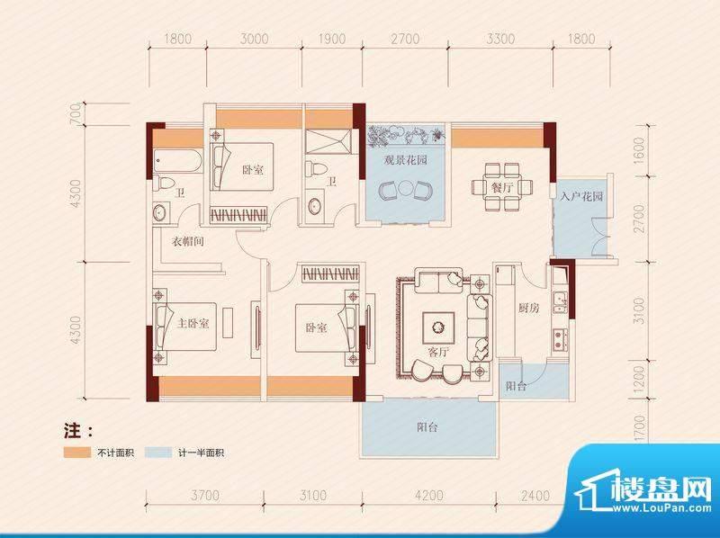 长虹百荟项目7-13栋面积:135.00平米