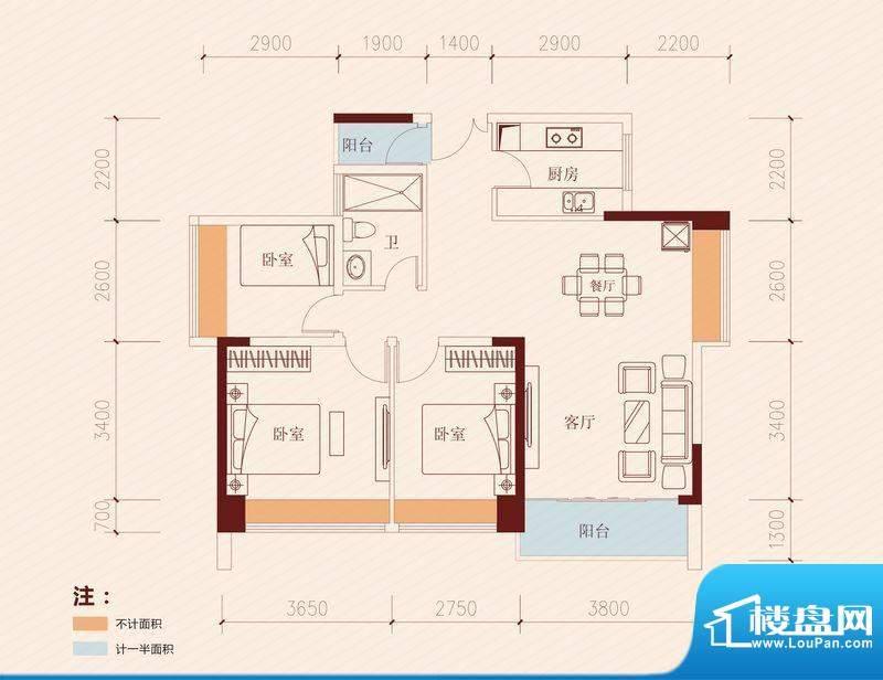 长虹百荟项目7-13栋面积:95.00平米