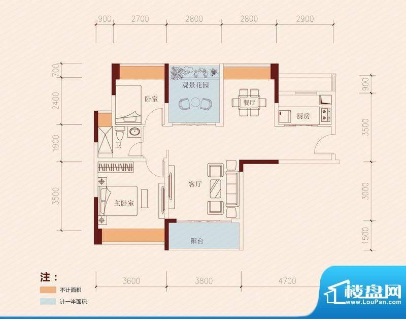 长虹百荟项目1-2、1面积:90.00平米