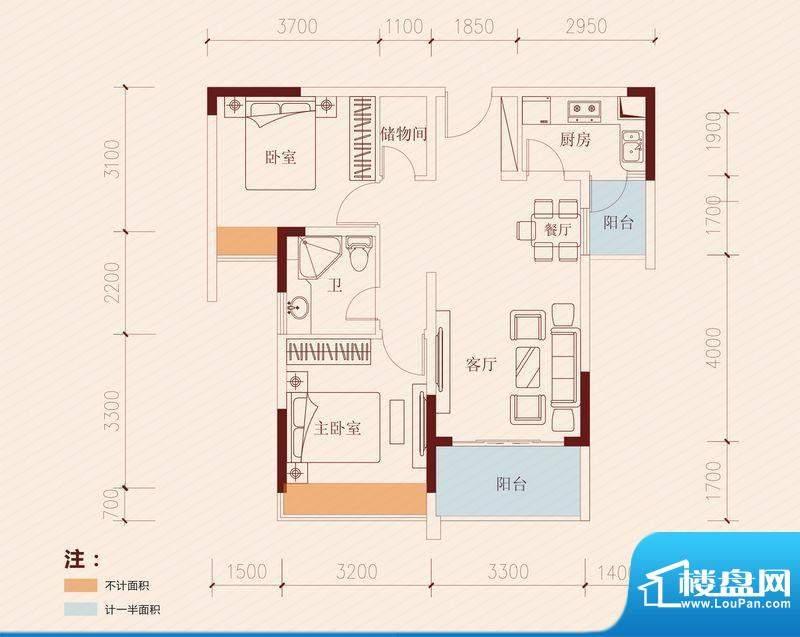 长虹百荟项目1-2、1面积:80.00平米