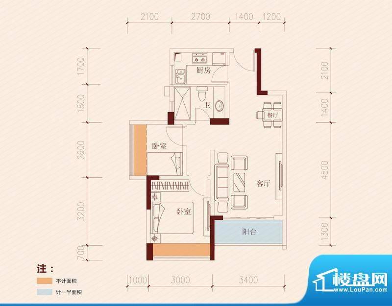 长虹百荟项目3、4栋面积:60.00平米