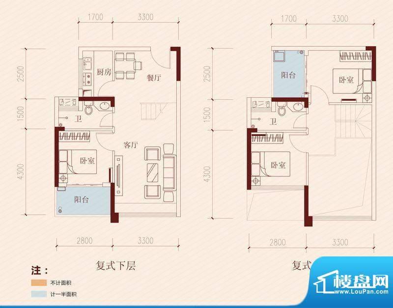 长虹百荟项目19、20面积:95.00平米