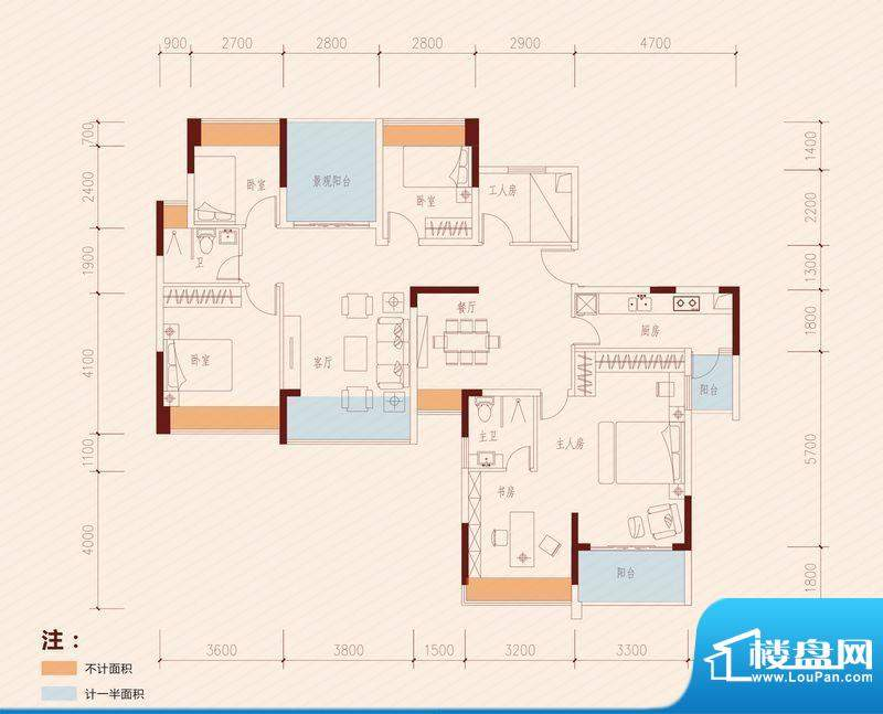 长虹百荟项目1-2、1面积:170.00平米