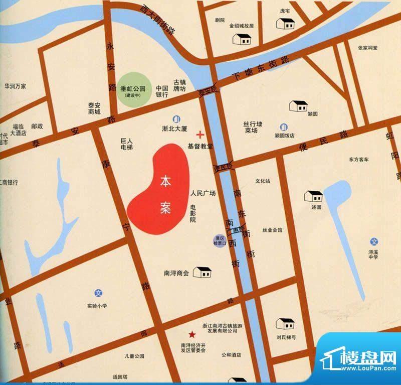 晶园晶街交通图