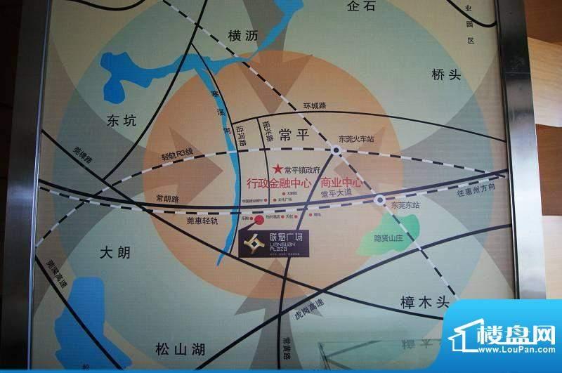 联冠广场交通图