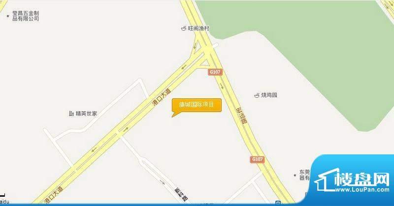 宏远康城国际交通图