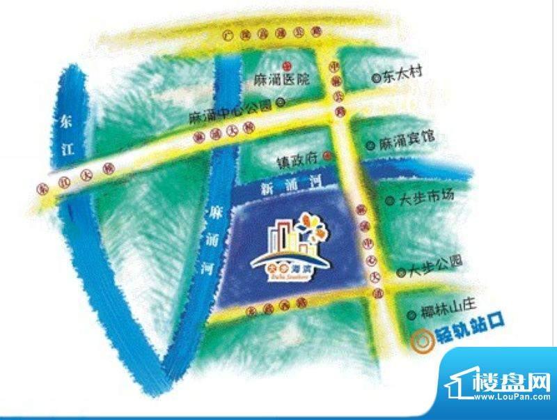 大步海滨花园三期交通图