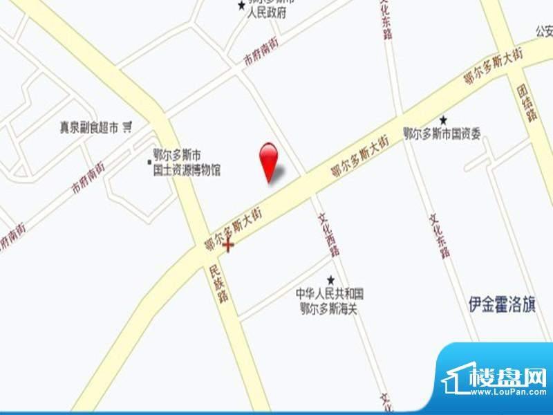 中国鄂尔多斯低碳谷交通图
