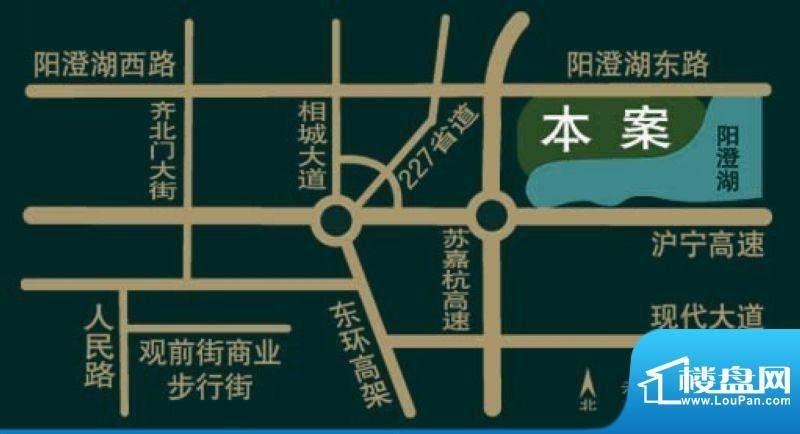 银丽高尔夫公寓交通图