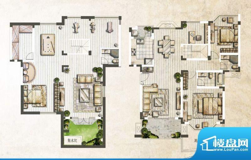 银丽高尔夫公寓C户型面积:138.06平米