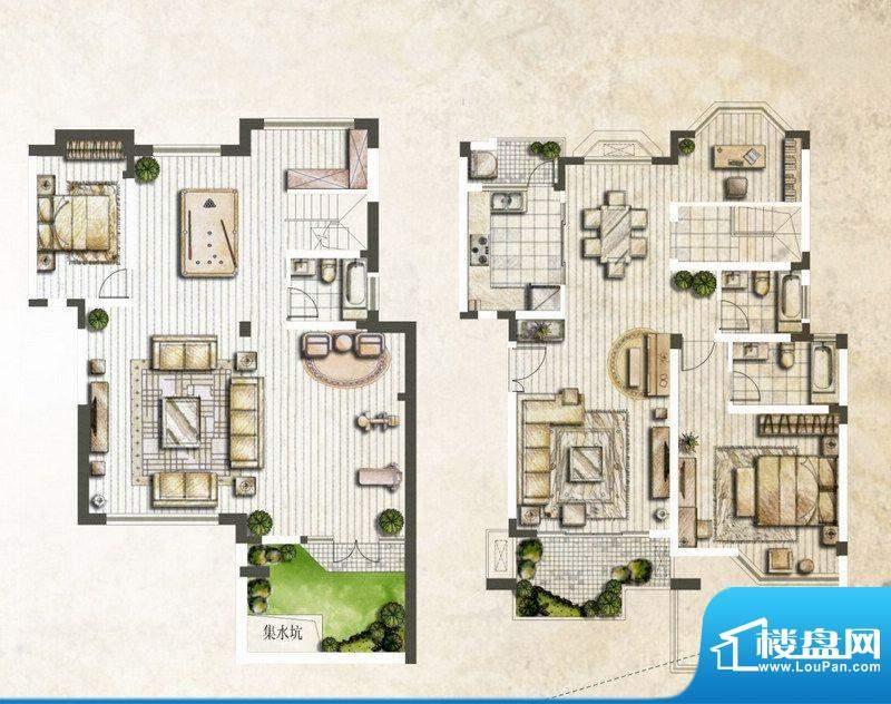 银丽高尔夫公寓D户型面积:117.83平米