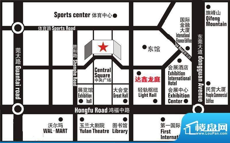 达鑫龙庭交通图