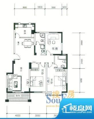 达鑫龙庭户型2 2室2面积:0.00平米