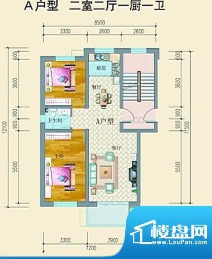 达鑫龙庭户型3 3室2面积:0.00平米