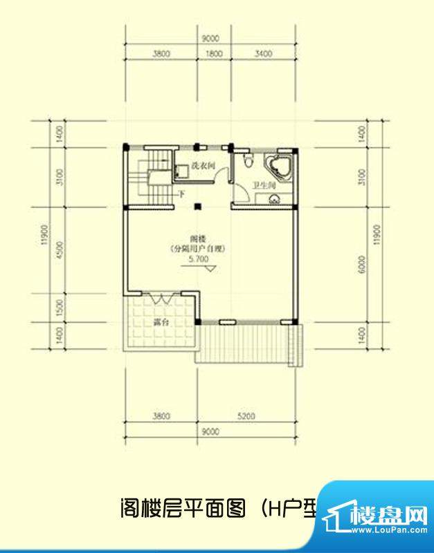 桃坞巷独栋还砚斋H户面积:351.00平米