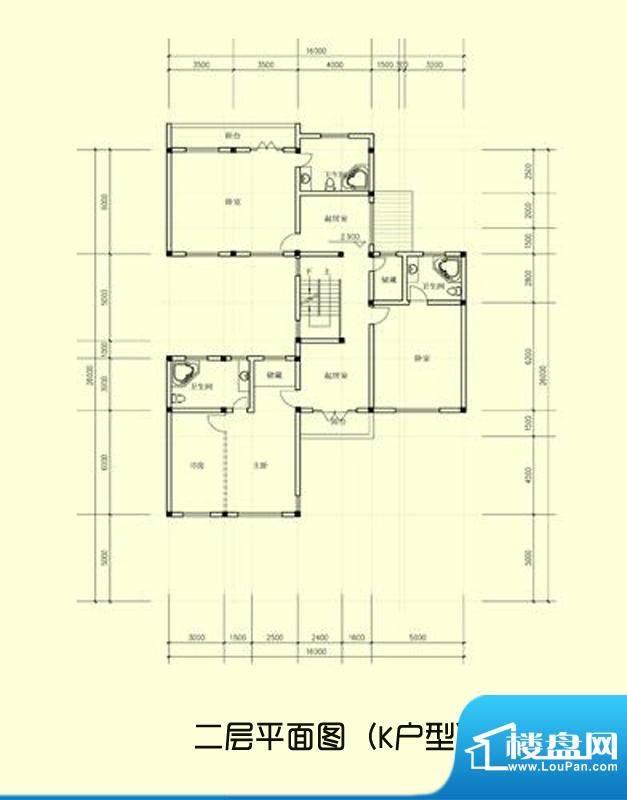 桃坞巷万卷堂K户型二面积:889.00平米