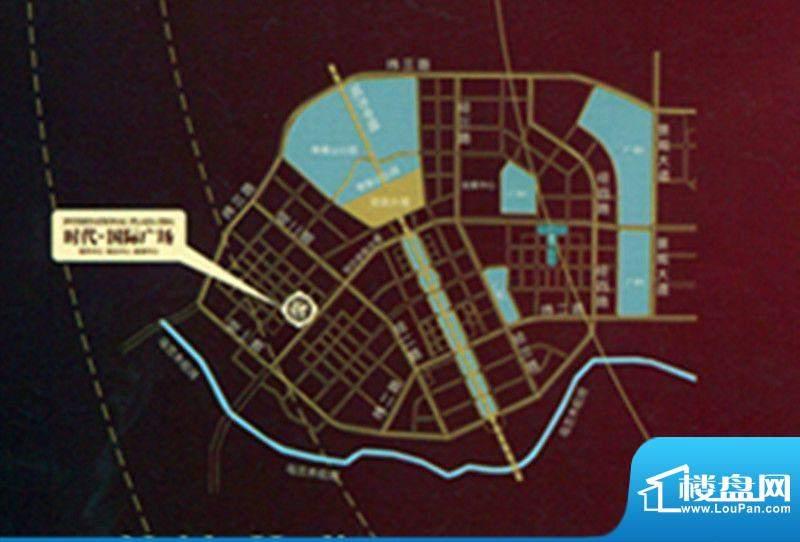时代国际广场交通图