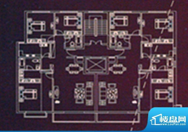 时代国际广场D户型单面积:128.02m平米