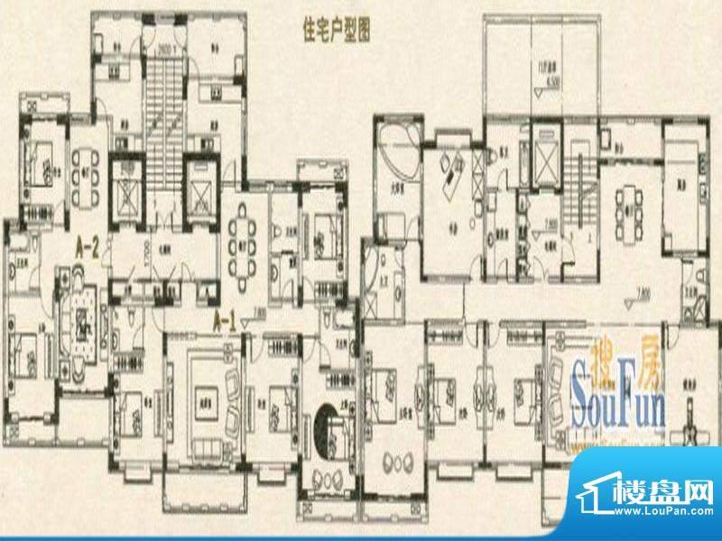 天润城市广场户型图面积:132.20m平米