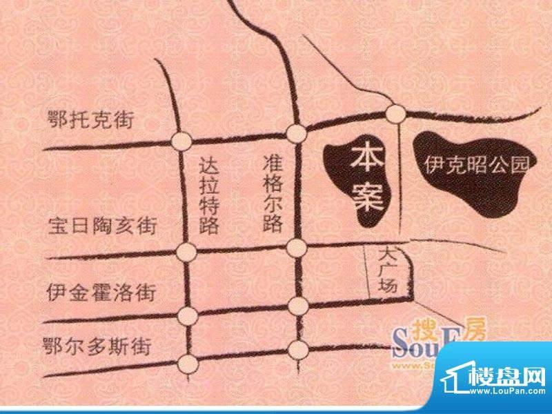 宏大观园交通图