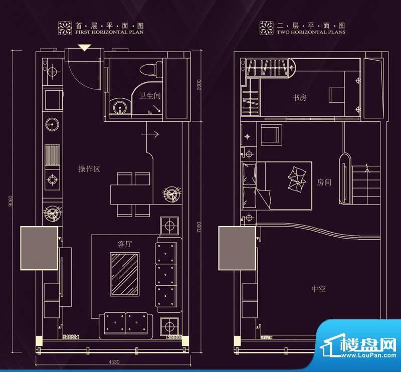 金润铂宫11-30层标准面积:60.93平米
