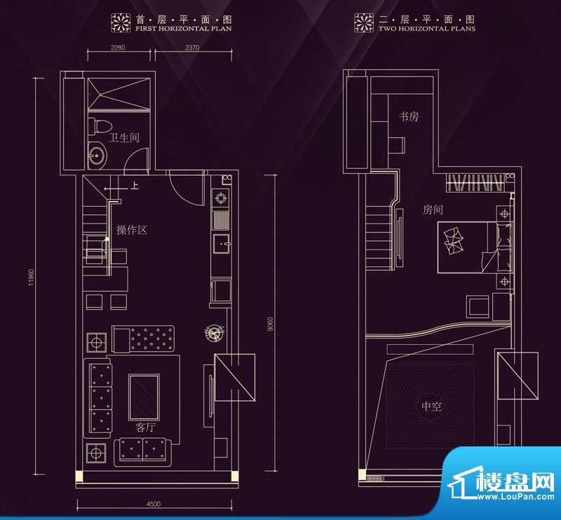 金润铂宫11-30层标准面积:70.48平米