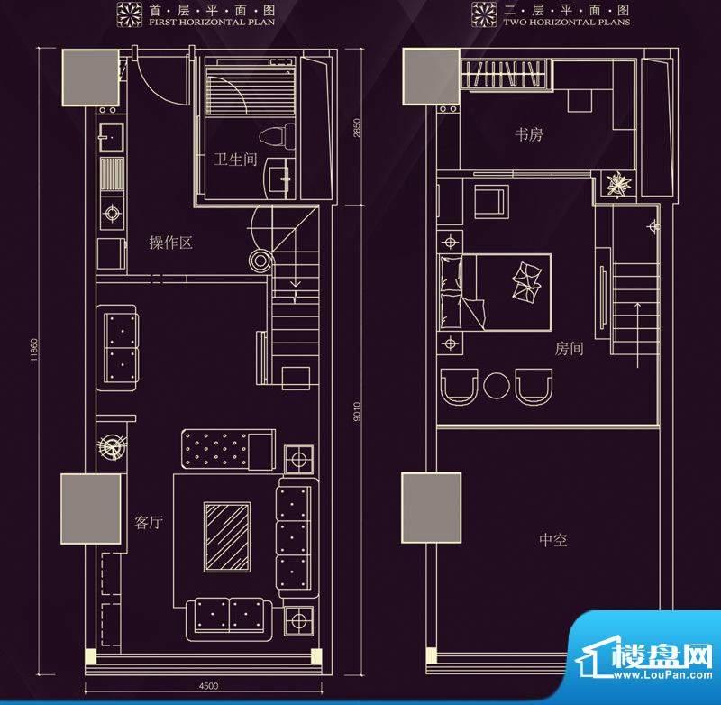 金润铂宫11-30层标准面积:79.11平米