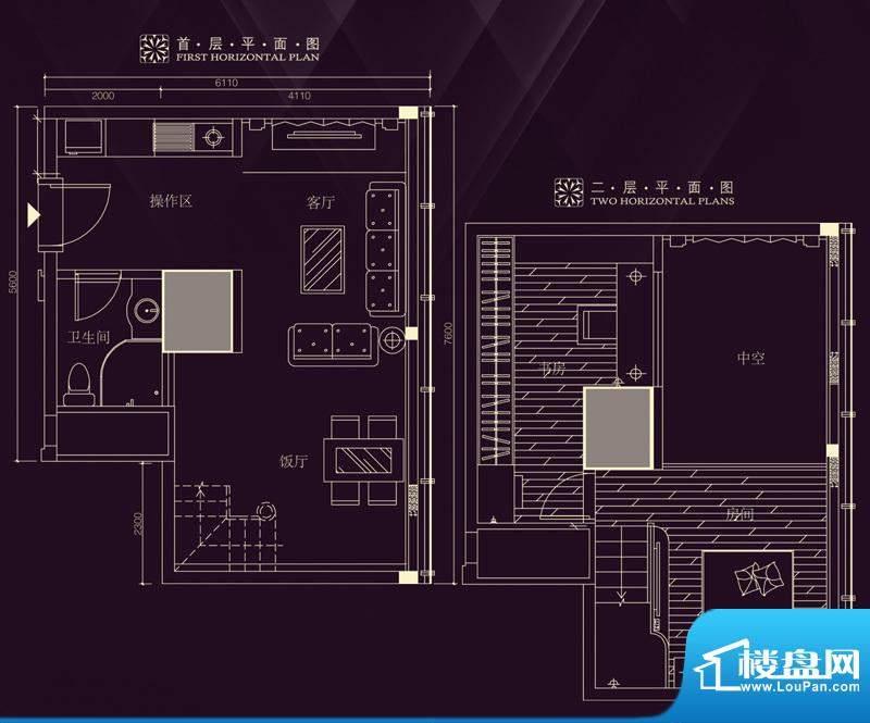 金润铂宫11-30层标准面积:62.52平米