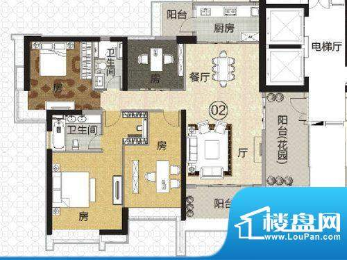富力君湖华庭T1栋2-面积:180.00平米