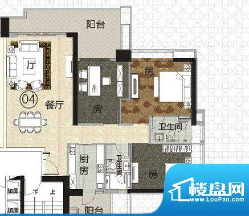 富力君湖华庭T1栋2-面积:130.00平米