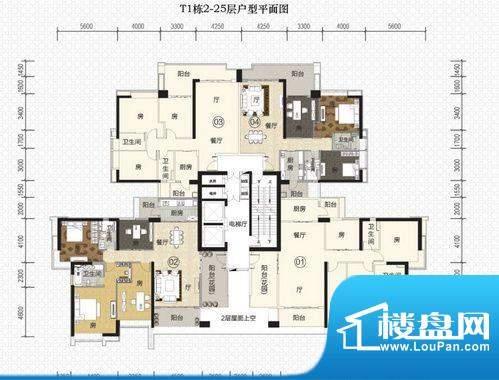 富力君湖华庭T1栋2-面积:0.00平米