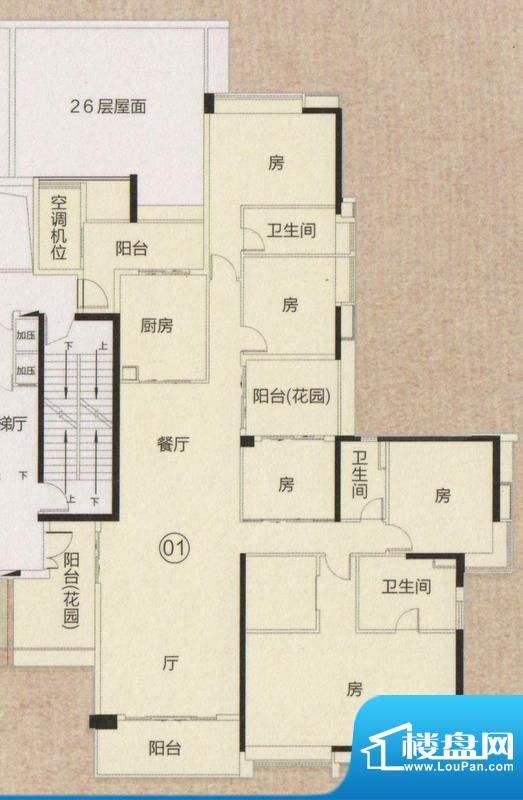 富力君湖华庭T2栋26面积:285.00平米