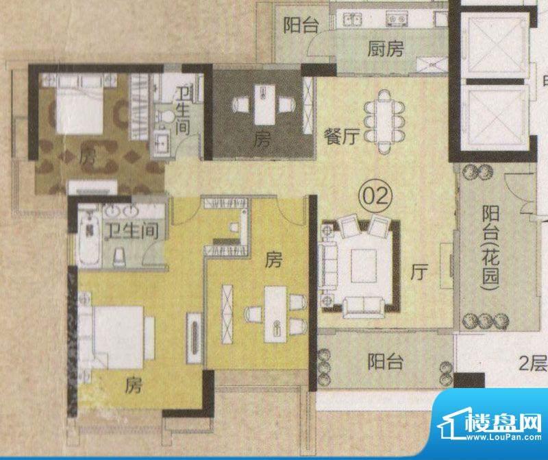 富力君湖华庭T2栋2—面积:180.00平米