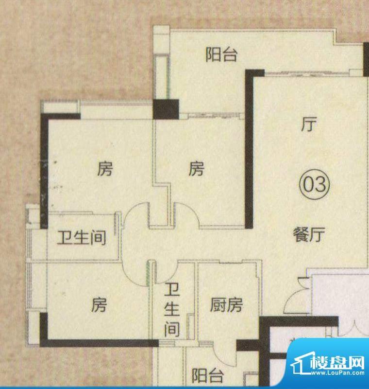 富力君湖华庭T2栋2—面积:130.00平米