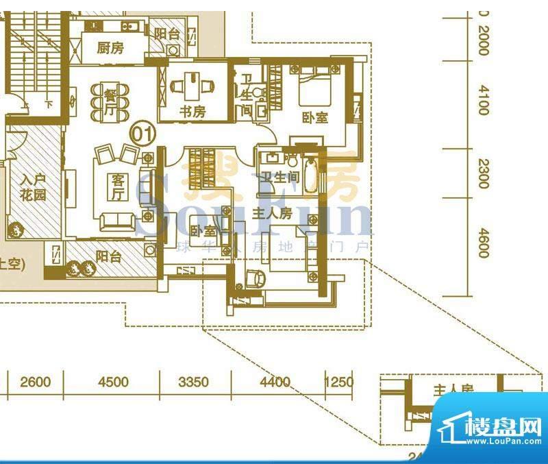 富力君湖华庭二期T3面积:180.00平米