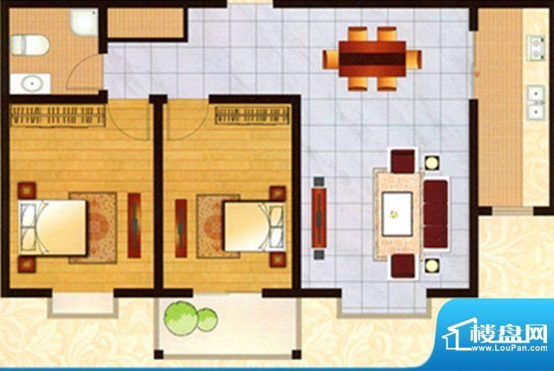 亿利城户型图 3室2厅面积:142.50m平米